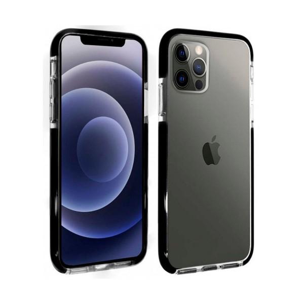 Akashi altcip12pmstrg tranparente funda de silicona apple iphone 12 pro max esquinas reforzadas
