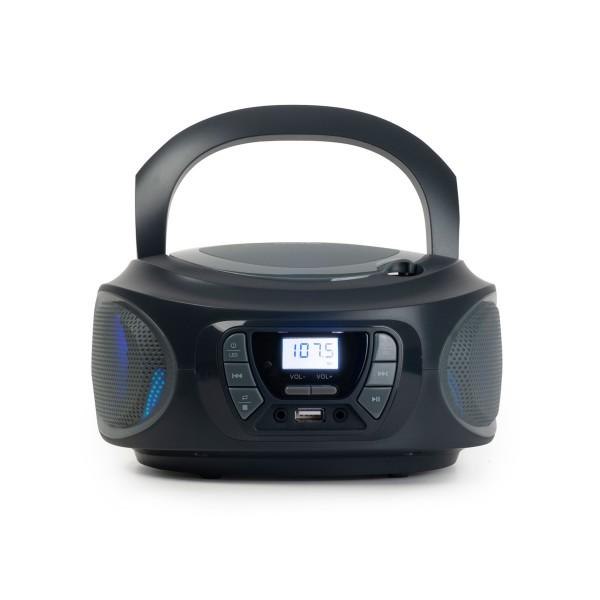 Fonestar boom-one-g gris/ radio cd / 4w / reproductor usb/mp3 / radio fm
